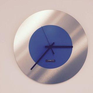 Klokkendiscounter Wanduhr Edelstahl Blue Lagoon Modern Design