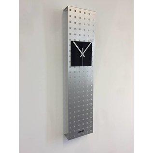 Klokkendiscounter Wandklok Perfor Design Black Square
