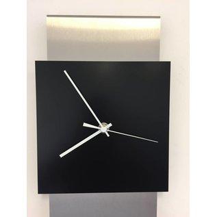 Klokkendiscounter Wanduhr Edelstahl JADA DESIGN BLACK SQUARE