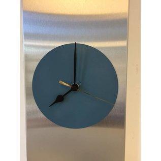 Klokkendiscounter Wanduhr Edelstahl Montpellier Grey Circle design