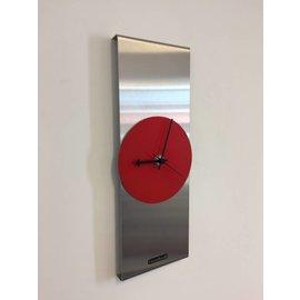 Klokkendiscounter Wanduhr Kreis Red & Black