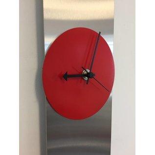 Klokkendiscounter Wandklok Red Circle & Black
