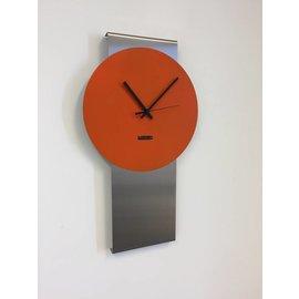 Klokkendiscounter Wandklok Pendulum Orange