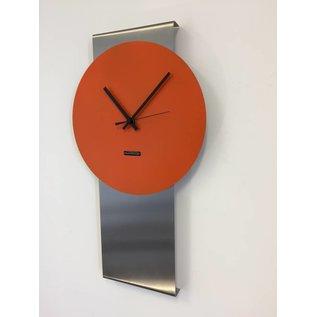 Klokkendiscounter Wanduhr Pendulum Orange