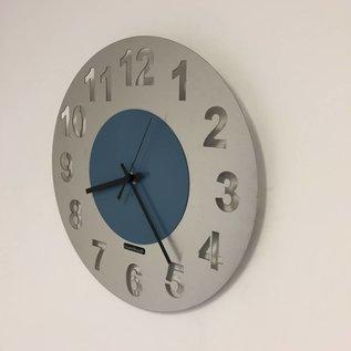 Klokkendiscounter Wandklok JUNTE STEEL BLUE DESIGN