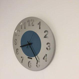 Klokkendiscounter Wanduhr JUNTE  STEEL BLUE DESIGN