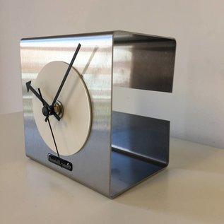 Klokkendiscounter Tischuhr The Cube White