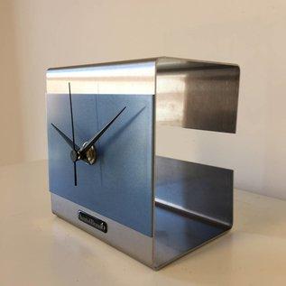 Klokkendiscounter Tafelklok The Cube Ice Blue