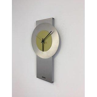 Klokkendiscounter Wanduhr Pendulum Lime-Green