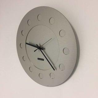 Klokkendiscounter Wanduhr Industrial Revolution Silver