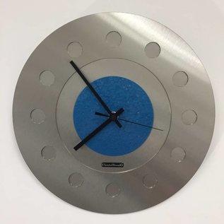 Klokkendiscounter Wanduhr Industrial Revolution Blue Hammer