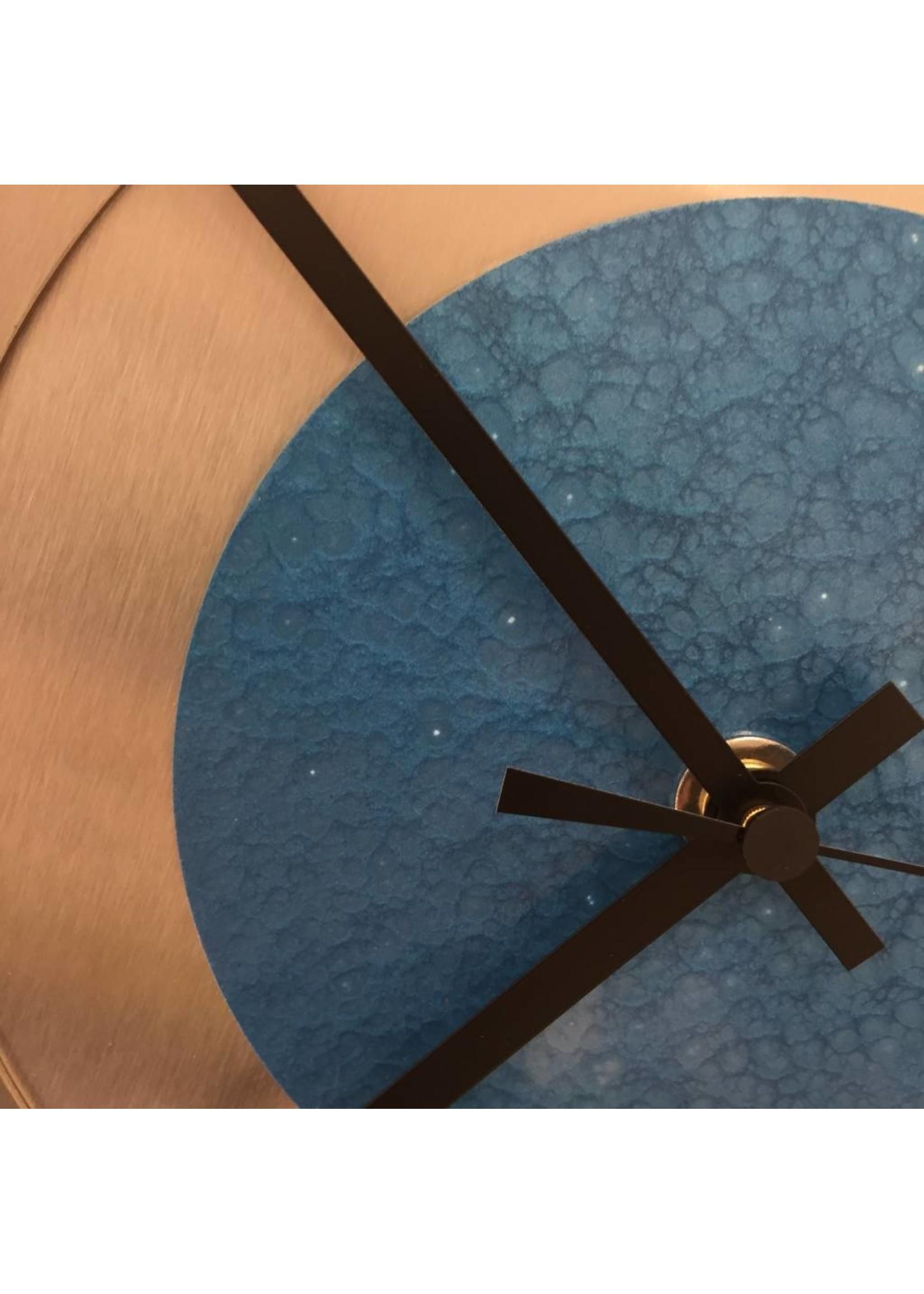 Klokkendiscounter Wandklok Industrial Revolution Blue Hammer