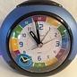 Atlanta Kinderwecker met klok leer functie in blauw