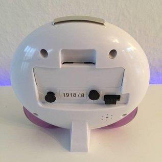 Vrolijke kinderwekker met een lachend gezicht.