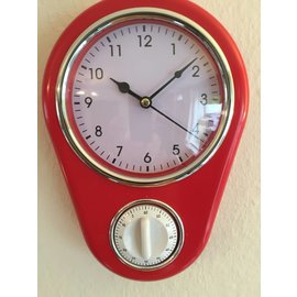 NiceTime Retro keuken klok met timer