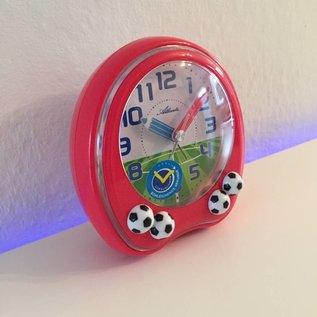 Atlanta Kinderwecker met voetballen rood