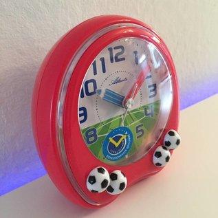 Atlanta Kinderwekker met voetballen rood