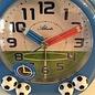 Atlanta Kinderwekker met voetballen blauw