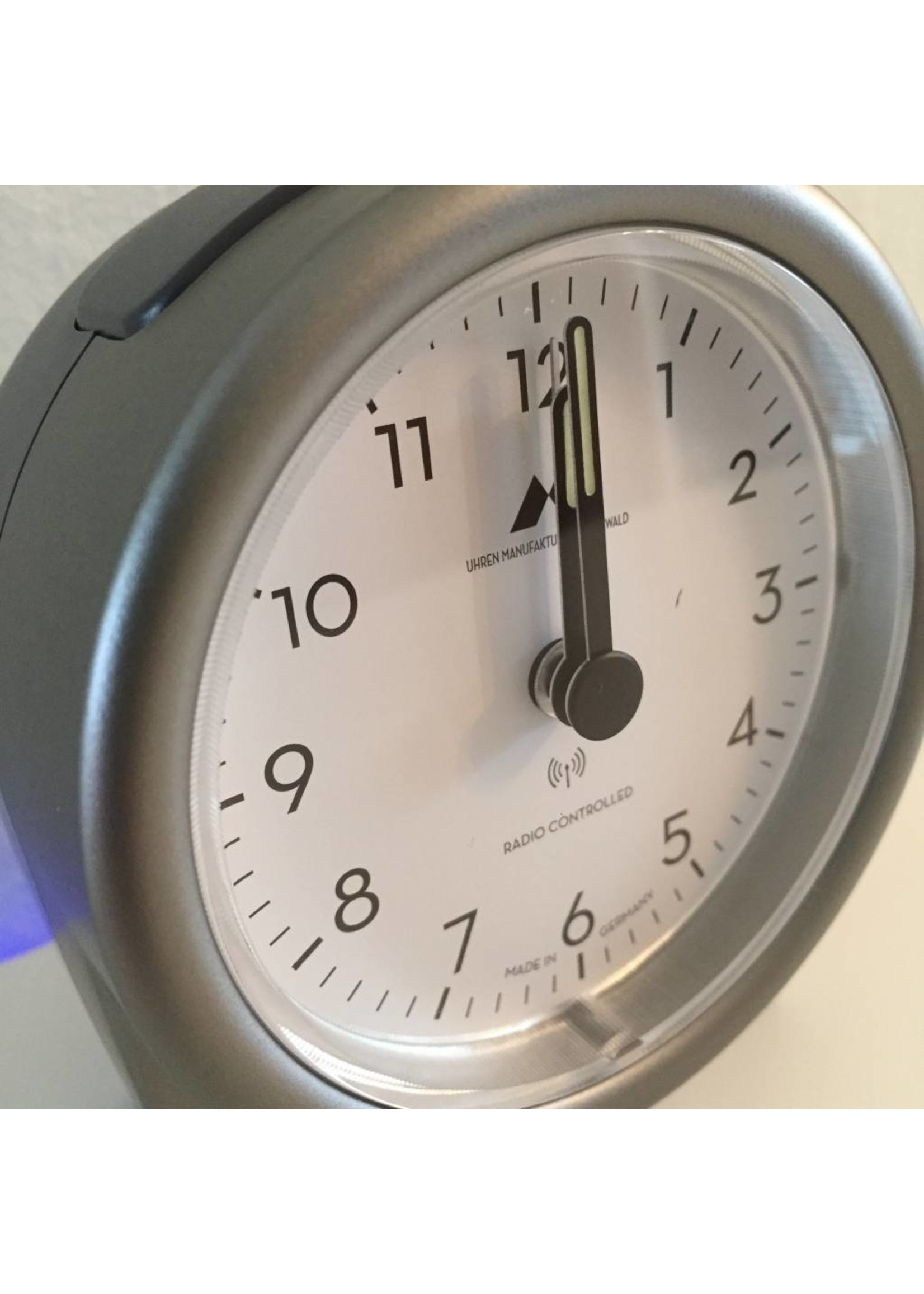 NiceTime Tijdseinwekker Made in Germany titaniumkleur