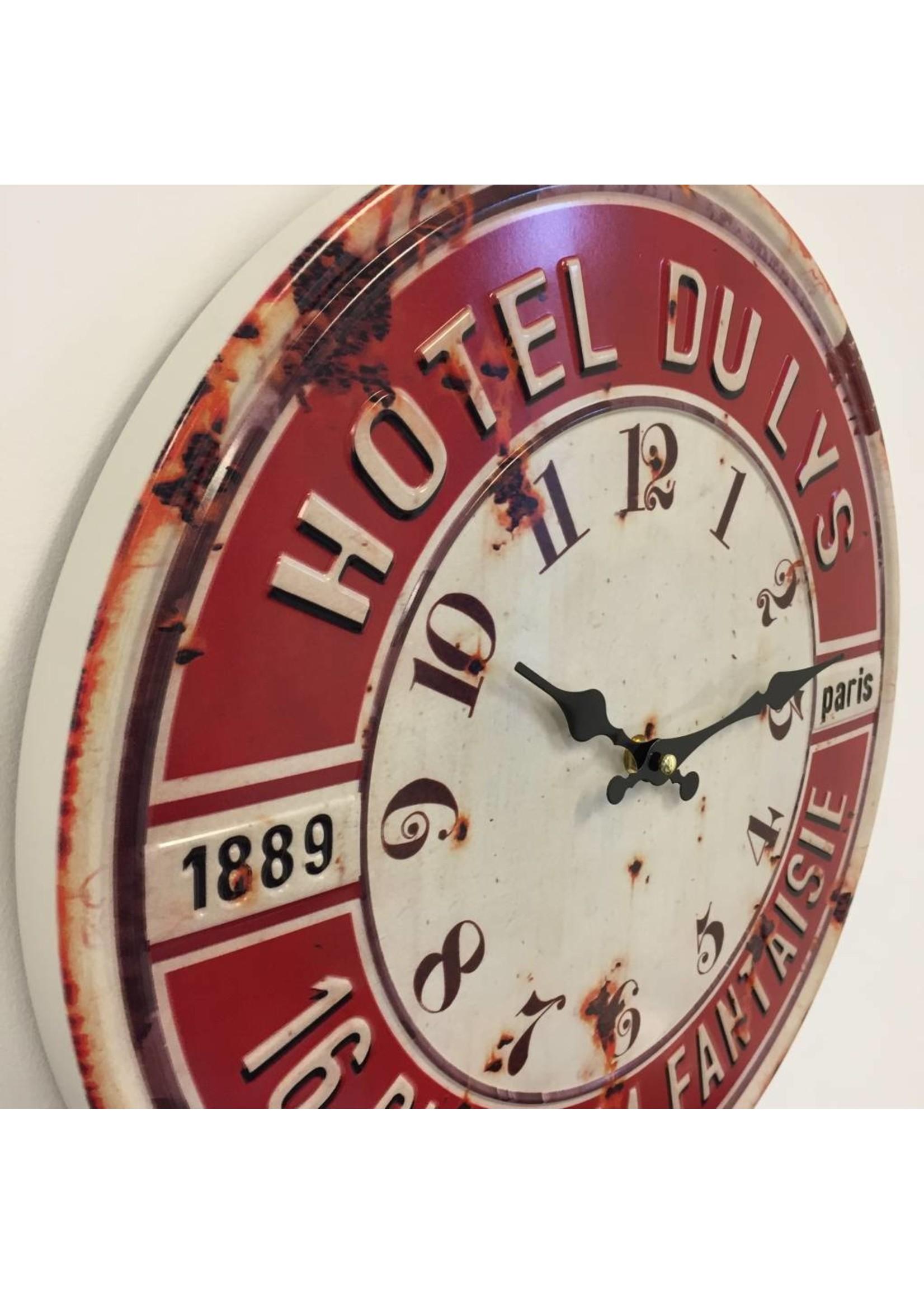 NiceTime Wandklok Paris Hotel du Lys 1889