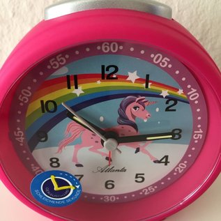 Atlanta Kinderwecker unicorn roze