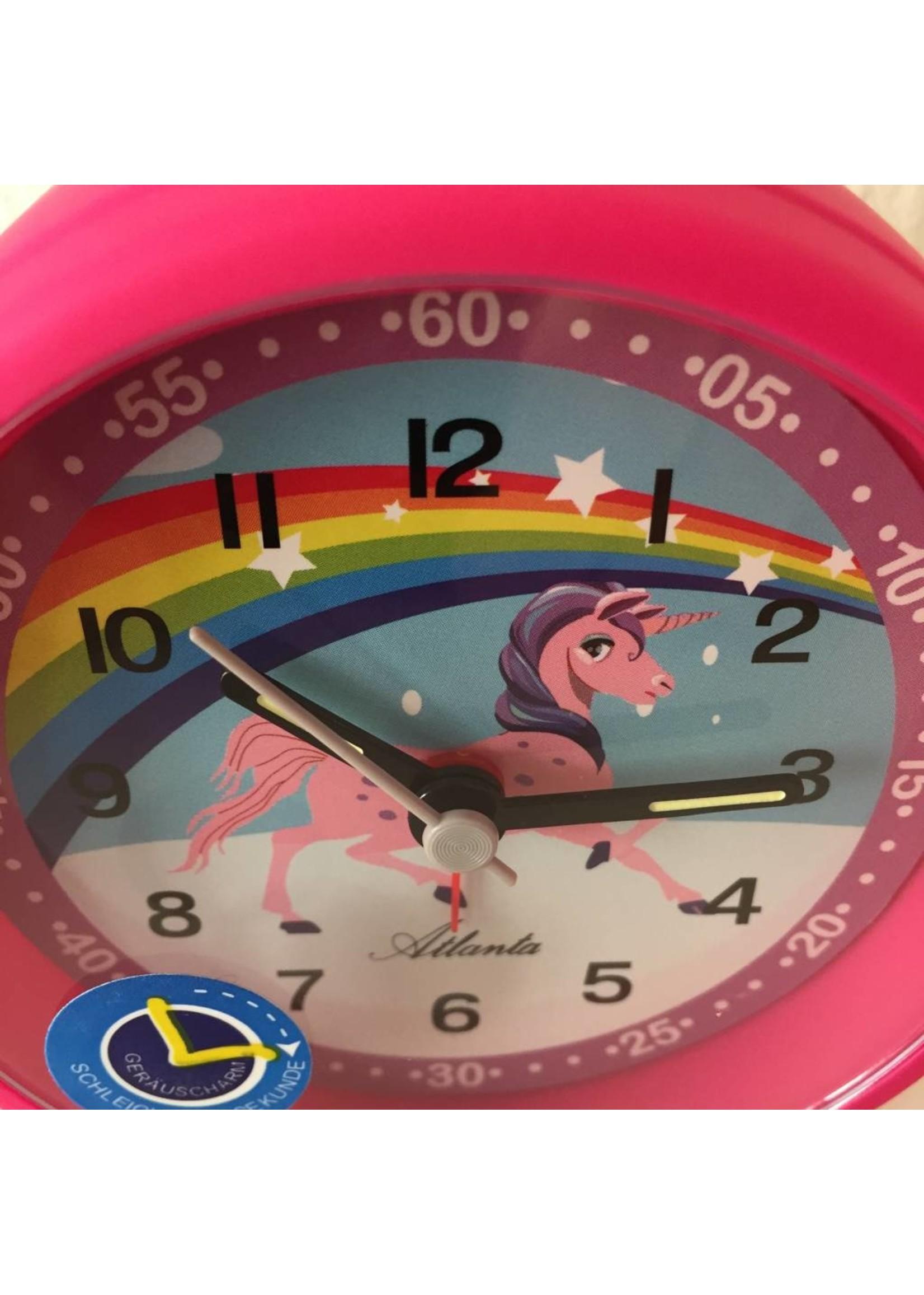 Atlanta Kinderwekker unicorn roze