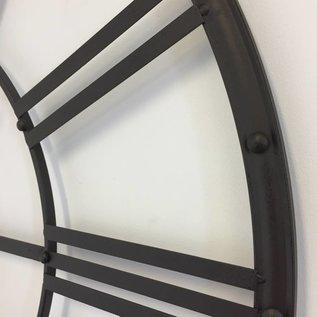 NiceTime Industriële wandklok metaal donker bruin