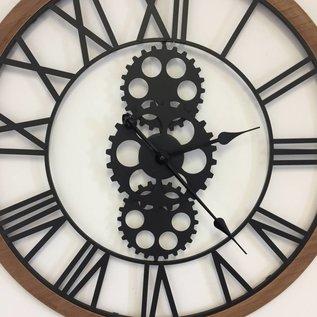 NiceTime Wanduhr Industrial Design Iron & Wood