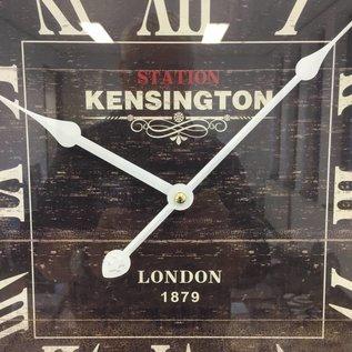 NiceTime Wandklok Kensington hout retro zwart