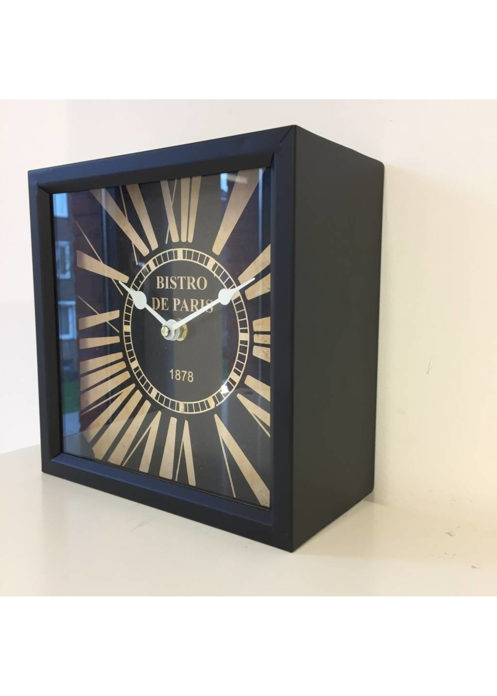 NiceTime Tafelklok Bistro de Paris Noir