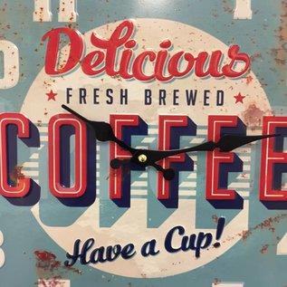 NiceTime Wanduhr retro Coffee Blue