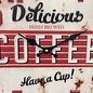 NiceTime Wanduhr retro Coffee Red