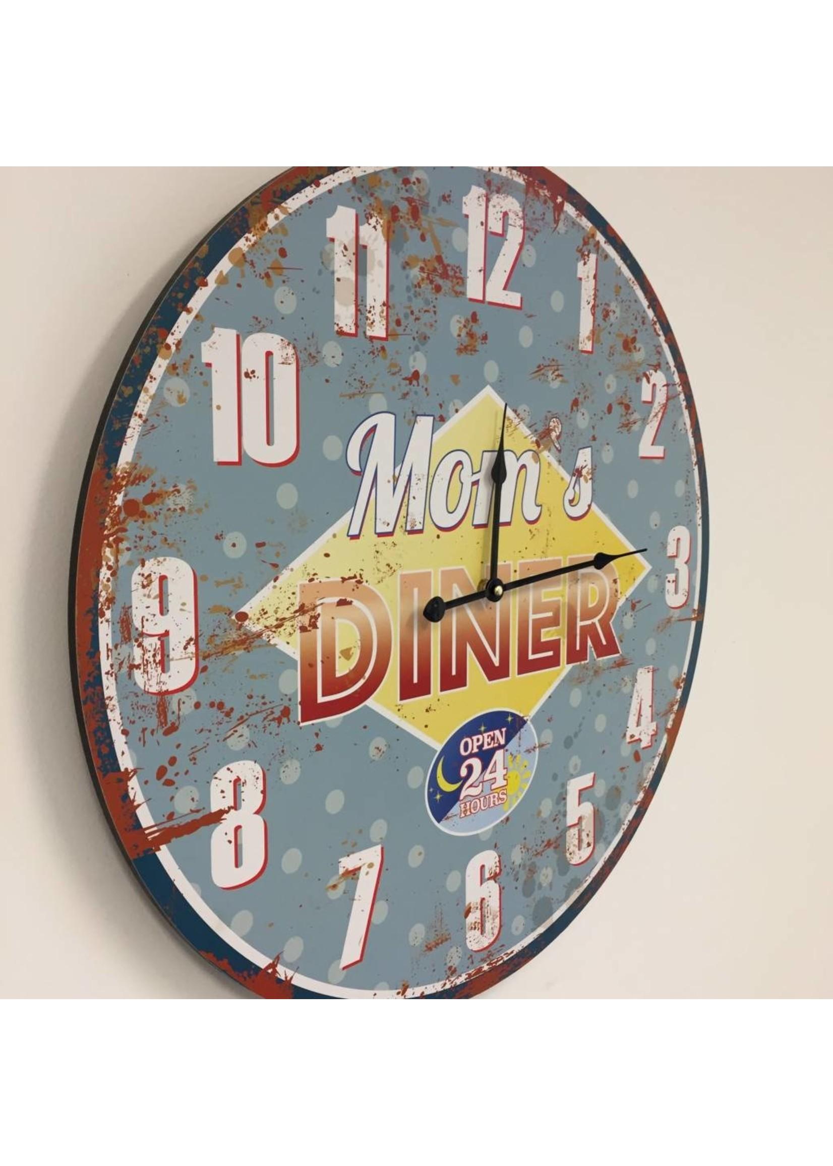 NiceTime Wandklok Mom's diner