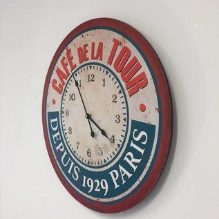 NiceTime Wanduhr Cafe de la Tour
