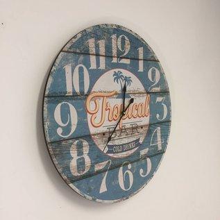 NiceTime Wandklok Vintage Tropical Bar