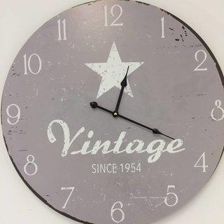 NiceTime Wanduhr Vintage Silver Star