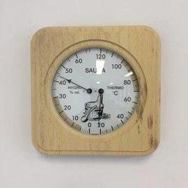NiceTime Sauna combimeter Massivholzrahmen