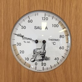 NiceTime Sauna Thermo- Hygrometer, 180 x 200mm