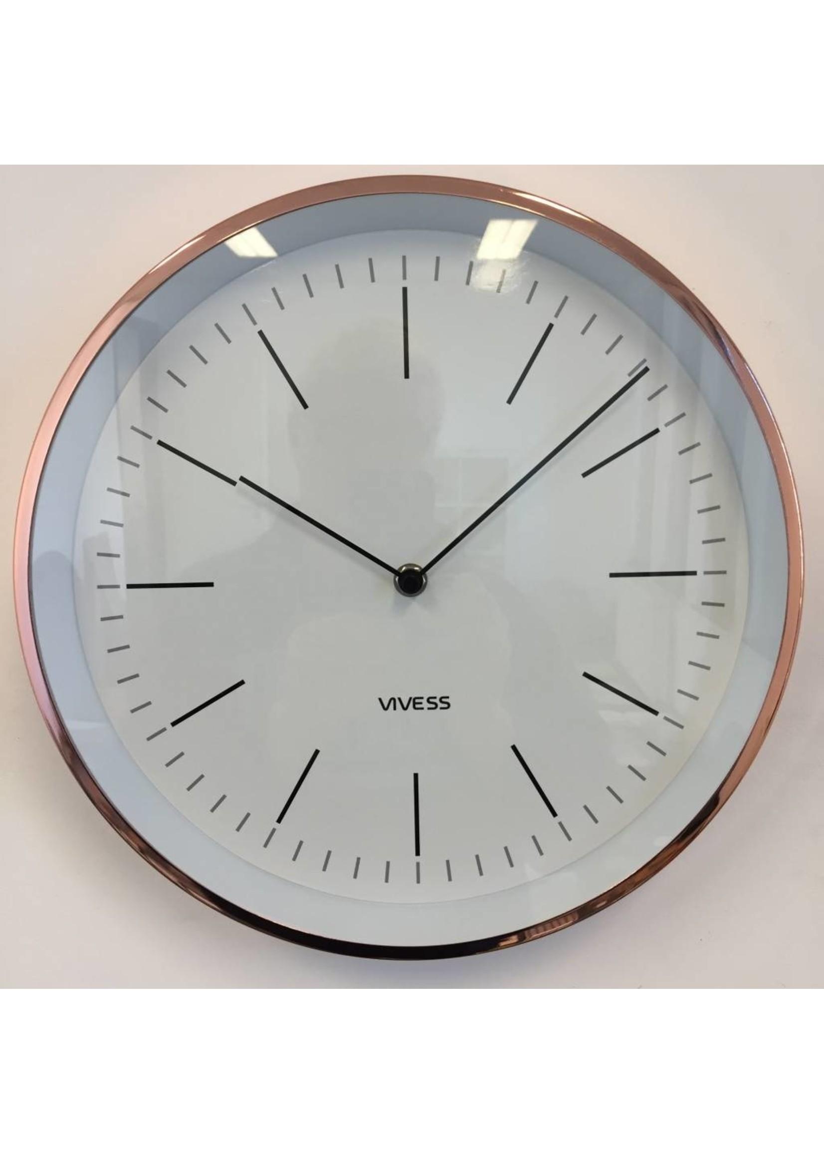 NiceTime Wandklok Vivess modern style White