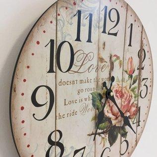 NiceTime Wanduhr Love & Roses