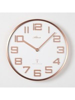 Klokkendiscounter Wandklok koper en wit modern design