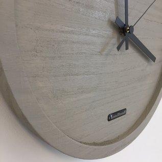 Klokkendiscounter Wandklok Quinten Grey Wash