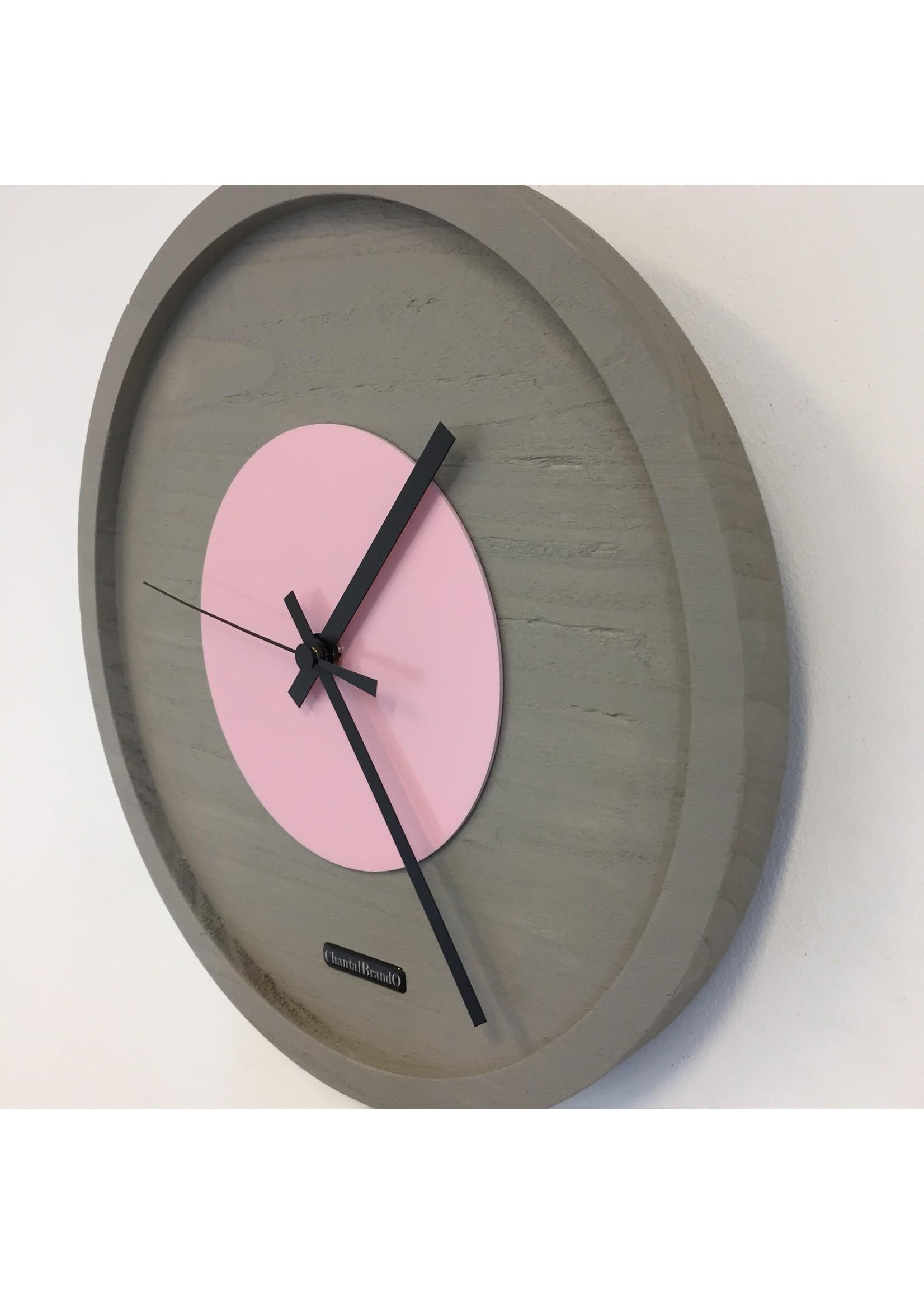 Klokkendiscounter Wandklok Quinten PINK Modern Design