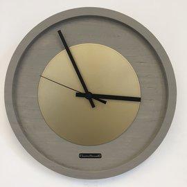 Klokkendiscounter Wanduhr Quinten GOLD Modernes Design