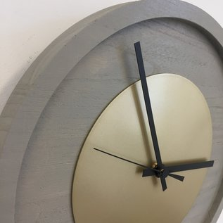 Klokkendiscounter Wandklok Quinten GOLD Modern Design