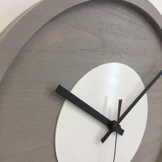 Klokkendiscounter Wanduhr Quinten White Modern Design