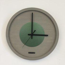 Klokkendiscounter Wanduhr Quinten Grun Hammer Modernes Design