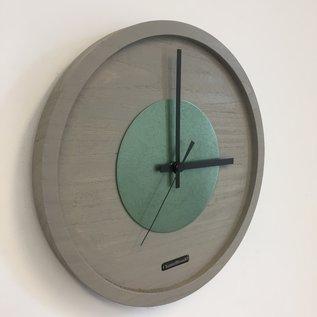 Klokkendiscounter Wanduhr Quinten Green Hammer Modern Design