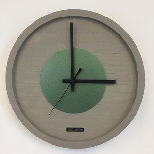 Klokkendiscounter Wandklok Quinten Green Hammer Modern Design