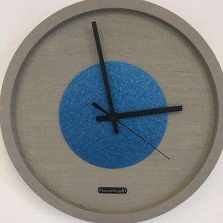 Klokkendiscounter Wanduhr Quinten Blue Hammer Modern Design